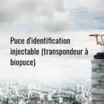 Puce d'identification injectable (transpondeur à biopuce)